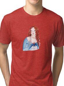 redhead girl Tri-blend T-Shirt