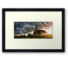 Have been through all storms together !........ Framed Print