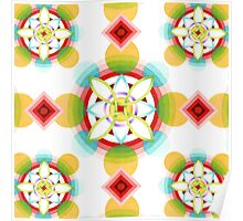 Geometric Blossoms Poster