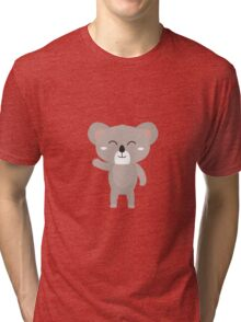 Friendly waving koala Tri-blend T-Shirt