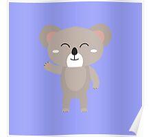 Friendly waving koala Poster