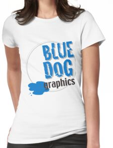 blue dog graphics Womens Fitted T-Shirt