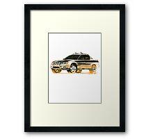 Subaru Baja Ute Pickup Framed Print