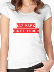 JP Right Thurr Red Women's Fitted Scoop T-Shirt