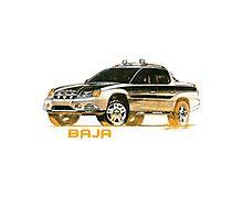 Subaru Baja 1 Ute Pickup Photographic Print