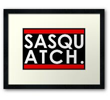 Sasquatch Run! Framed Print