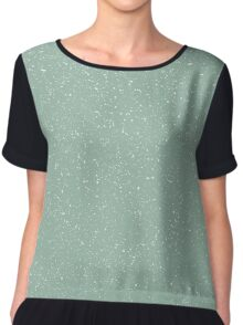 Snowstorm blizzard on a pastel green background Chiffon Top