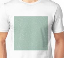 Snowstorm blizzard on a pastel green background Unisex T-Shirt