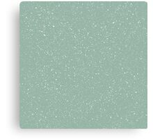 Snowstorm blizzard on a pastel green background Canvas Print