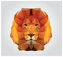 Geometric polygon lion by BlueLela