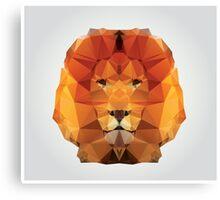 Geometric polygon lion Canvas Print