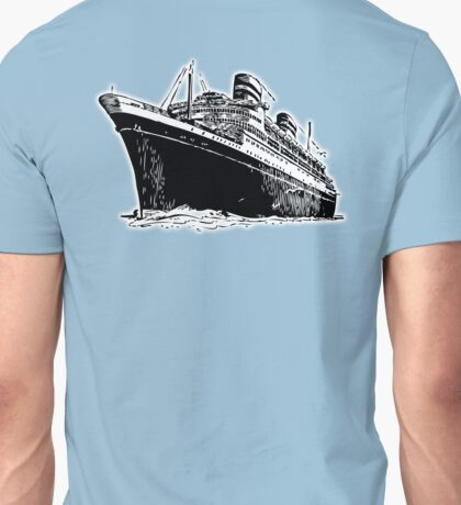 Cruise Ship, Ocean Liner, Ship, Trans Atlantic Unisex T-Shirt