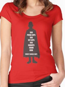 Saitama's Workout - One Punch Man Women's Fitted Scoop T-Shirt