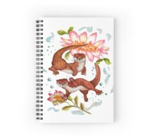 Lily Otter Friends Spiral Notebook