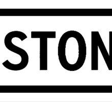Boston Heart White Sticker