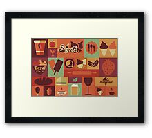 Food Icons Framed Print