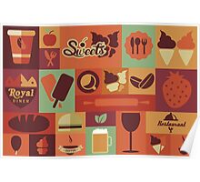 Food Icons Poster