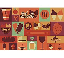 Food Icons Photographic Print
