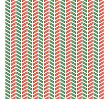 Fun green and red weave stripes for Christmas decor Photographic Print