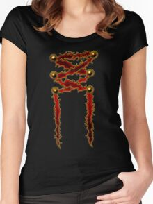 Corset Ribbon Women's Fitted Scoop T-Shirt