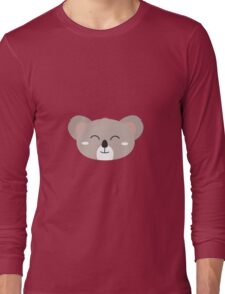 Happy Koala head Long Sleeve T-Shirt