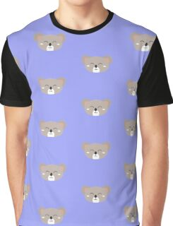 Happy Koala head Graphic T-Shirt