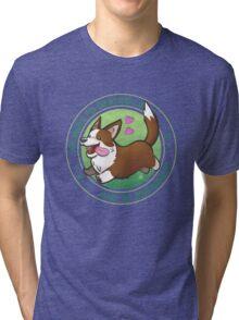 Corgi the Destroyer Tri-blend T-Shirt