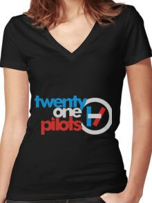 TOP Women's Fitted V-Neck T-Shirt