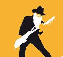 No044 MY ZZ TOP Minimal Music poster by Chungkong