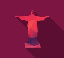World landmark, Christ The Redeemer, Rio De Janeiro, Brazil, South America by BlueLela