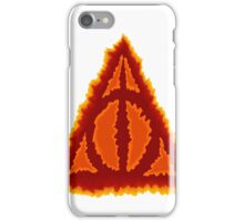 Deathly hallows on fire iPhone Case/Skin