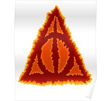 Deathly hallows on fire Poster