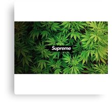 Supreme Weed Canvas Print