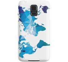 World map in geometric triangle pattern design Samsung Galaxy Case/Skin
