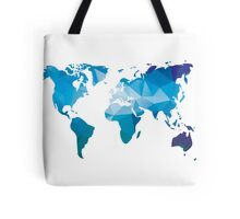 World map in geometric triangle pattern design Tote Bag