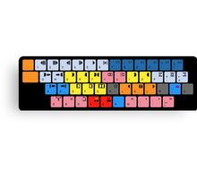 Avid Keyboard Canvas Print
