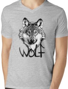 Wolf 6 Mens V-Neck T-Shirt