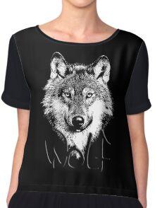 Wolf 6 Chiffon Top