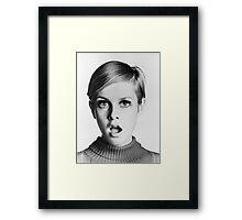 Twiggy + Oyster Framed Print