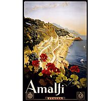 Vintage Amalfi Coast Italia Travel Photographic Print