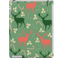 Deer and candy canes fun Christmas design  iPad Case/Skin