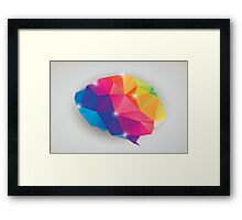 Abstract geometric human brain, triangles, creativity Framed Print