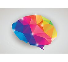 Abstract geometric human brain, triangles, creativity Photographic Print