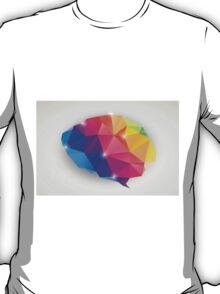 Abstract geometric human brain, triangles, creativity T-Shirt