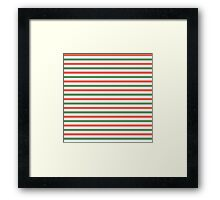 Red, green and white stripes, fun Christmas colours Framed Print