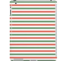 Red, green and white stripes, fun Christmas colours iPad Case/Skin