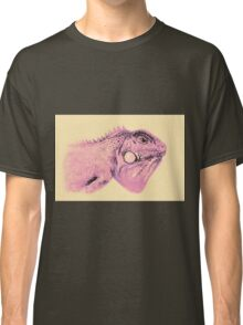 Colorful iguana watercolor painting Classic T-Shirt