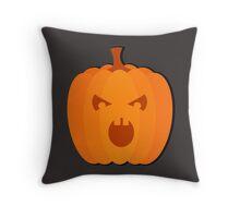 """Halloween images  """"Evil Pumpkin"""" Throw Pillow"""