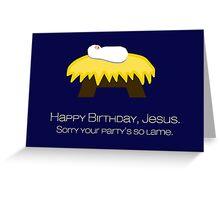 HBD Jesus Greeting Card