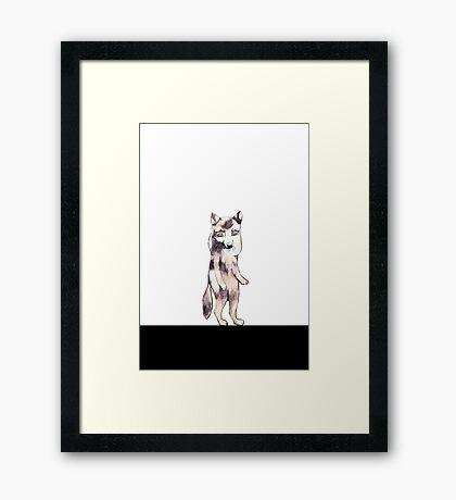 Little wolf Framed Print